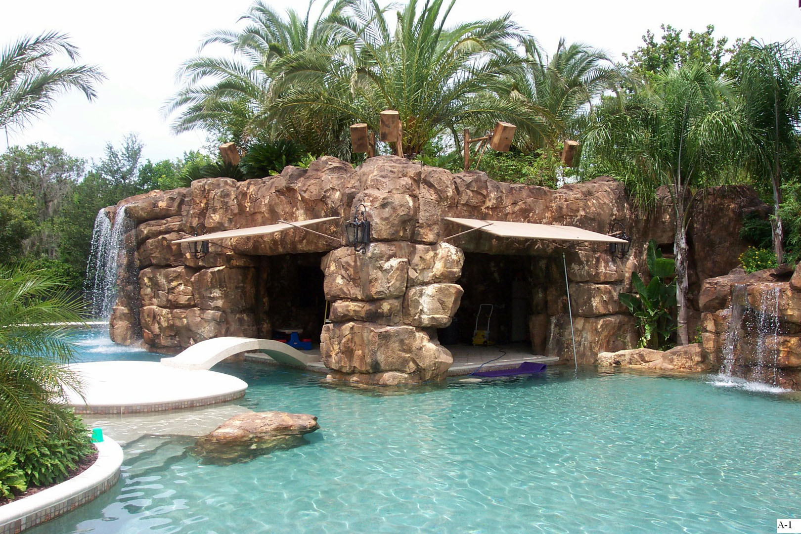 custom pool waterfalls